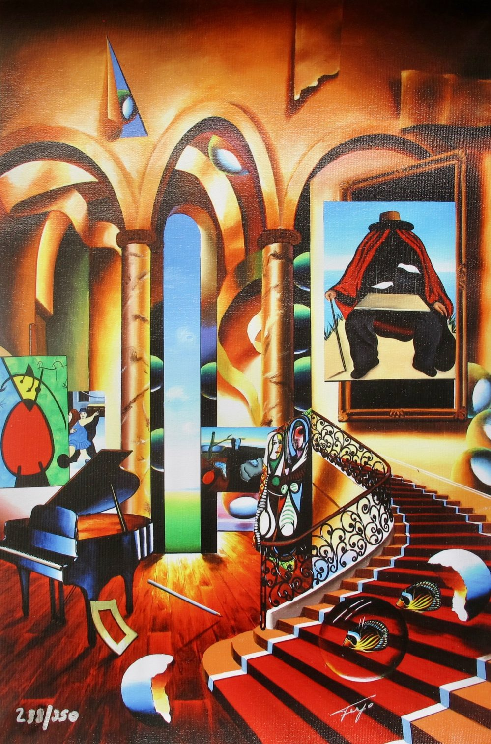FERJO CONCLAVE OF THE MASTERS Hand signed Limited Edition Giclee on Canvas