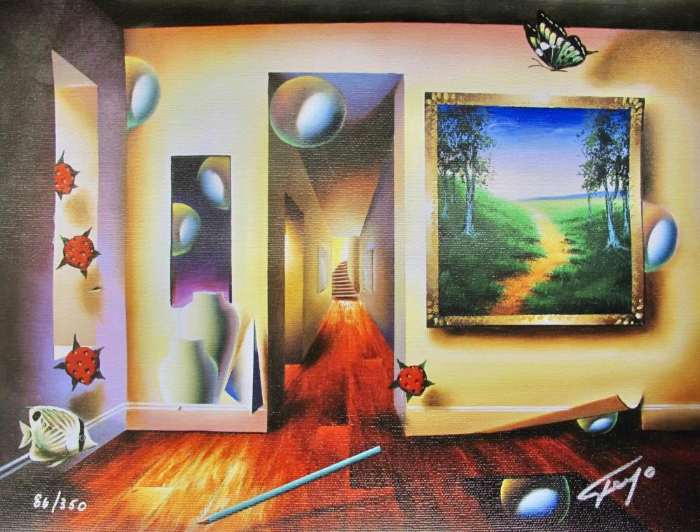FERJO DREAMLIKE CORRIDOR Hand signed Limited Edition Giclee on Canvas