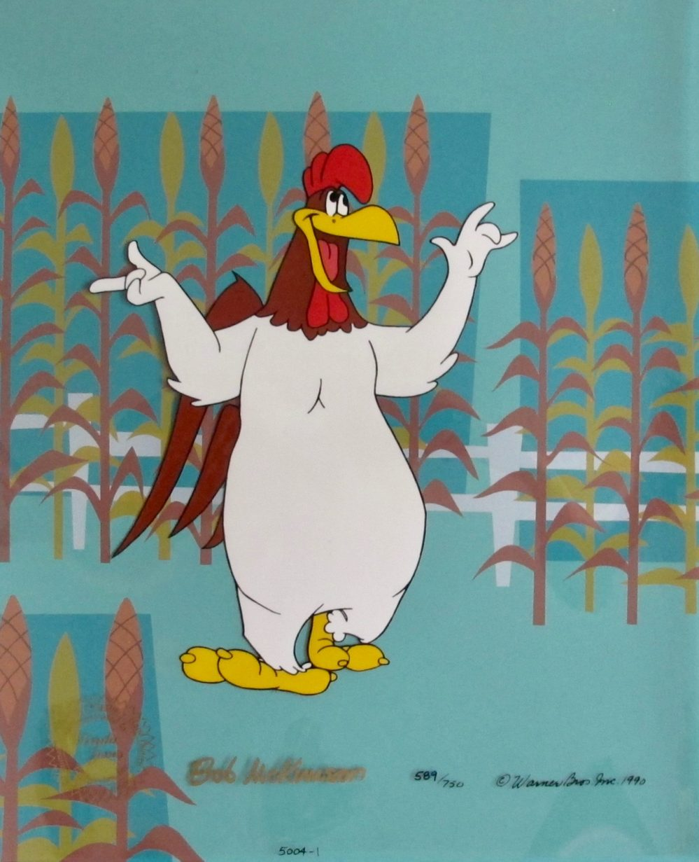FOGHORN LEGHORN Hand Painted Sericel Animation Art Hand Signed by Bob McKimson
