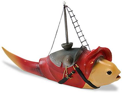 Jheronymus Bosch FISH WITH MAST Sculpture