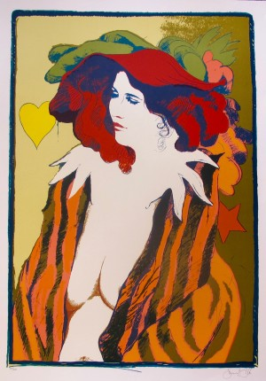 FRANK GALLO Hand Signed Limited Edition Lithograph LE CHAPEAU ROUGE