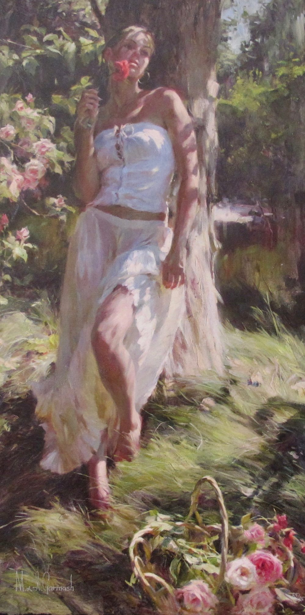 GARMASH Quiet Moment Hand Signed Limited Edition Giclee on Embellished Canvas