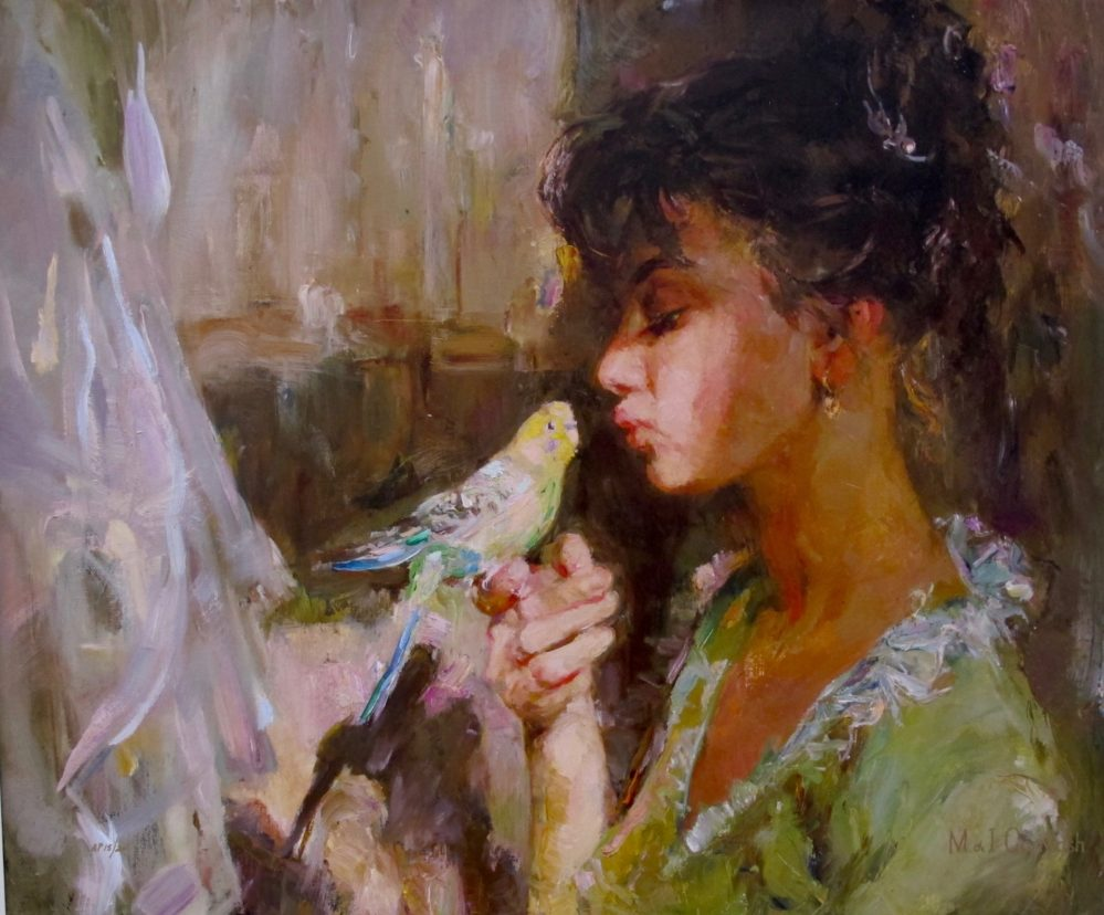 GARMASH Kiss Me Tender Hand Signed Limited Edition Giclee on Embellished Canvas