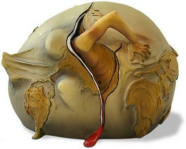 Salvador Dali Geopolitical Child Watch Birth Sculpture