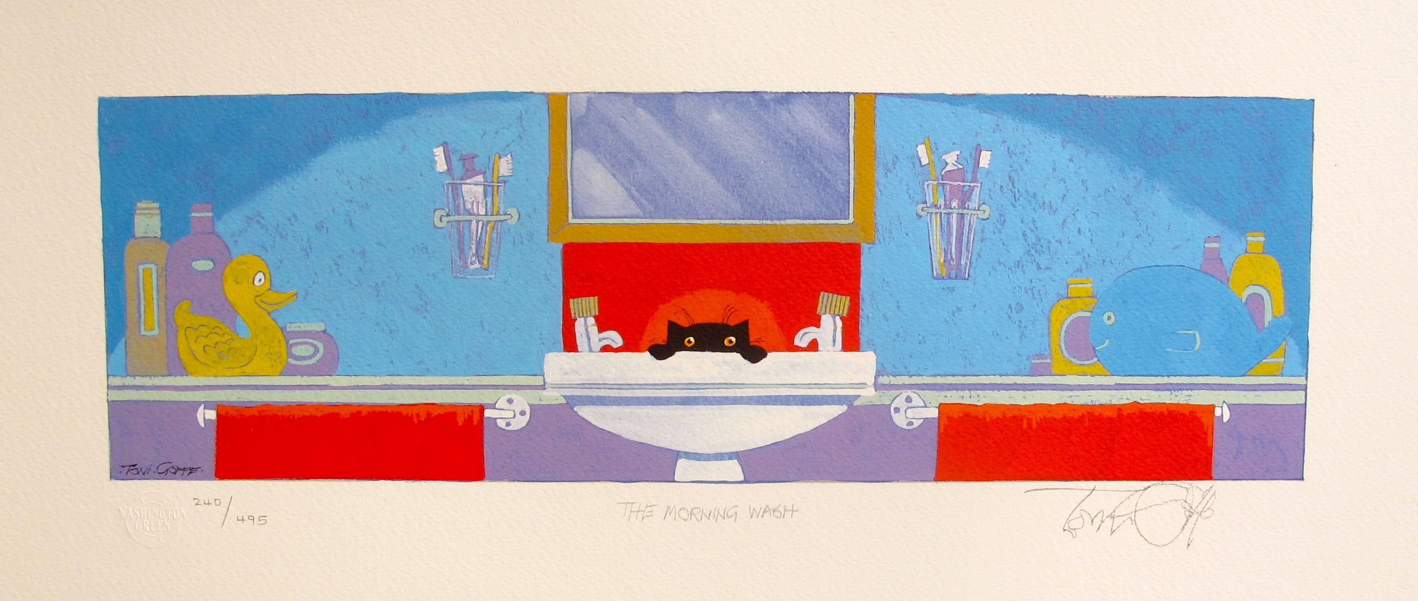 Toni Goffe THE MORNING WASH Hand Signed Limited Edition Giclee