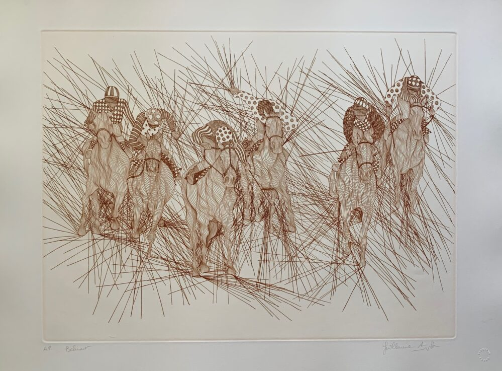 Guillaume Azoulay BELMONT Hand Signed 1983 Limited Edition Etching