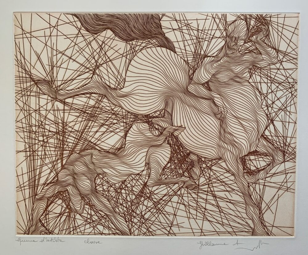 Guillaume Azoulay CHASSE Hand Signed 1980 Limited Edition Etching