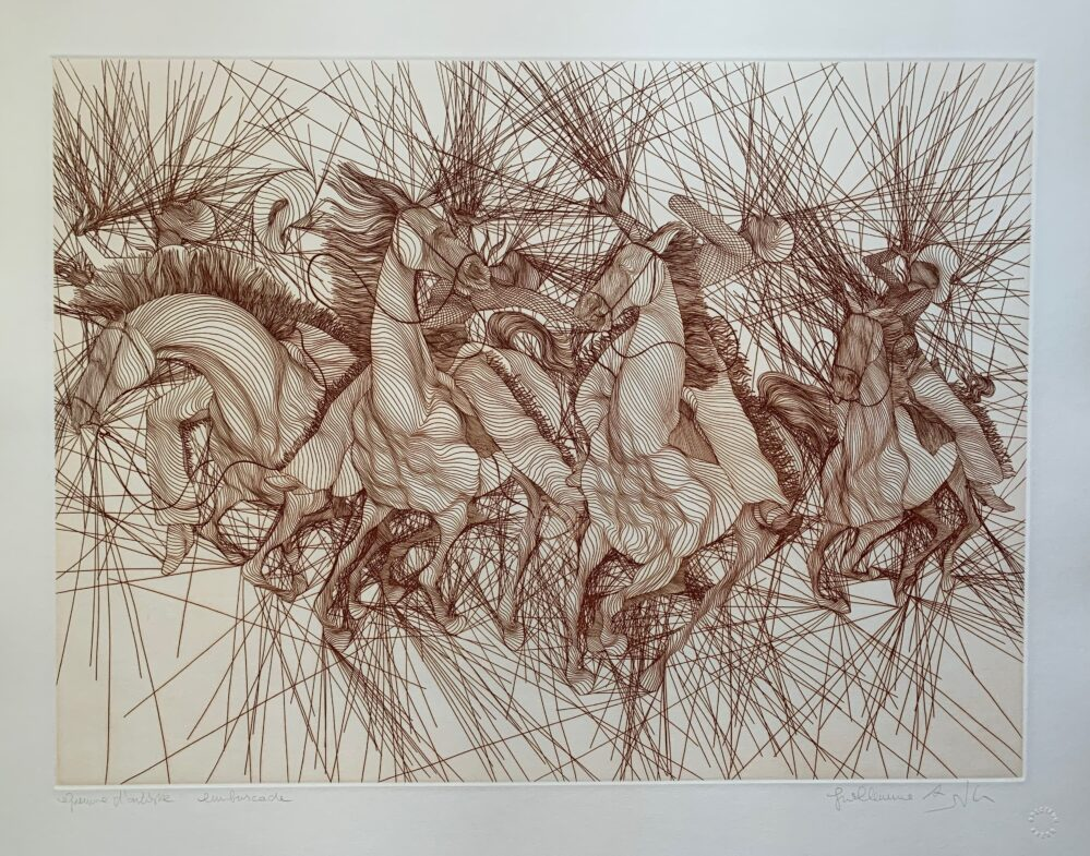 Guillaume Azoulay EMBUSCADE Hand Signed 1981 Limited Edition Etching