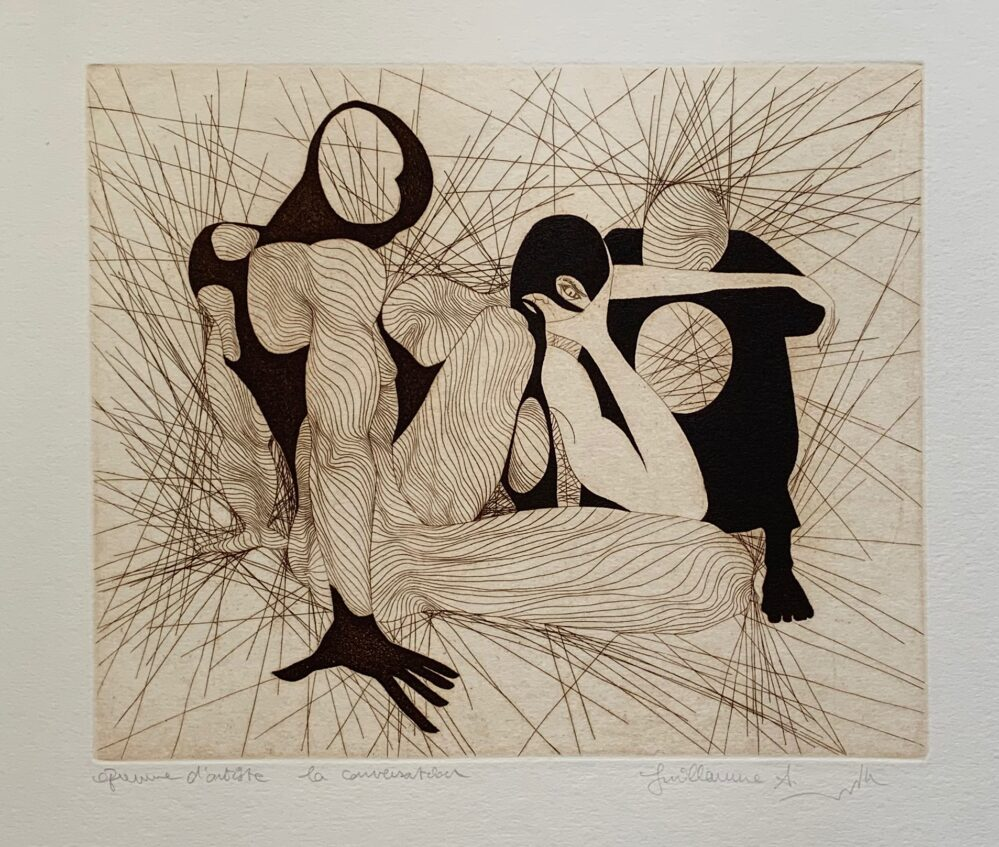 Guillaume Azoulay LA CONVERSATION Hand Signed 1986 Limited Edition Etching