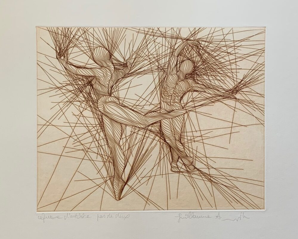 Guillaume Azoulay PAS DE DEUX Hand Signed 1979 Limited Edition Etching