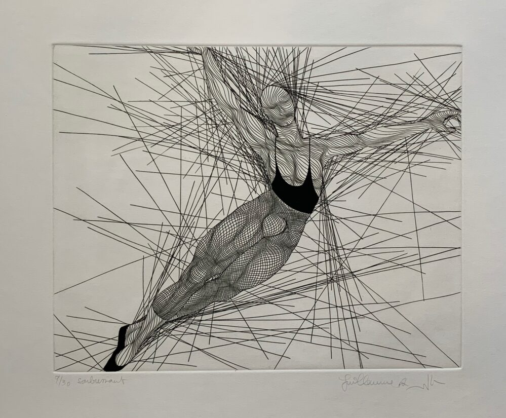 Guillaume Azoulay SOUBRESSAUT Hand Signed 1986 Limited Edition Etching