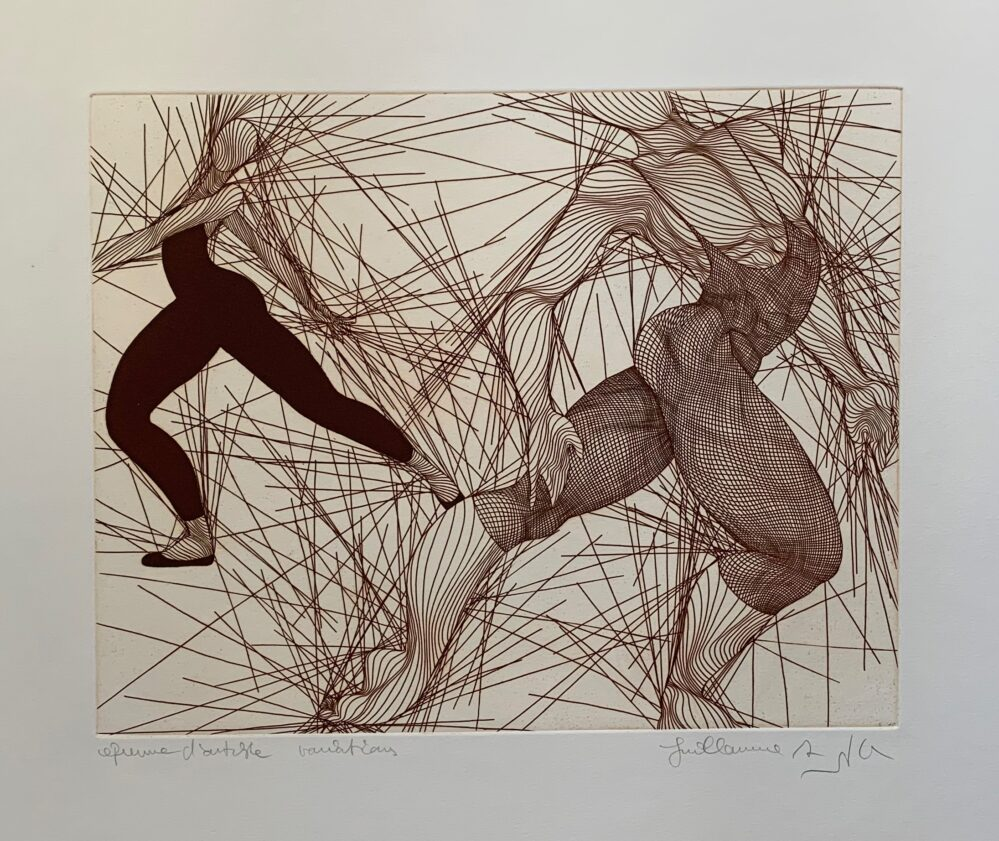 Guillaume Azoulay VARIATIONS Hand Signed 1986 Limited Edition Etching