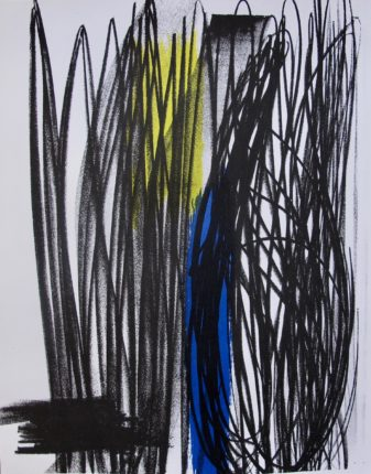 HANS HARTUNG COMPOSITION 1973 Original Lithograph by XXieme Siecle in Paris