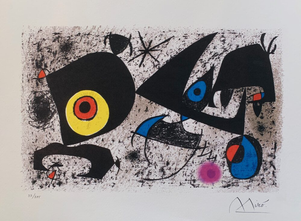 Homage to Joan Miro Facsimile Signed Limited Edition Giclee