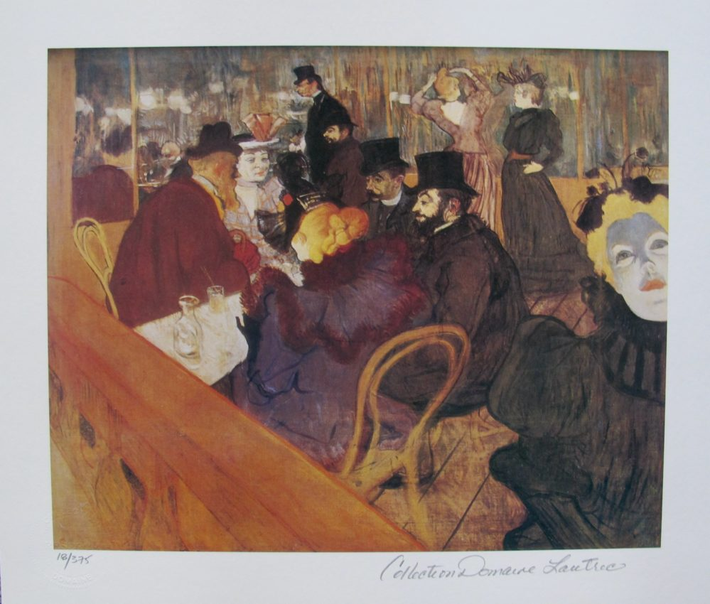 Henri Toulouse Lautrec AT THE MOULIN ROUGE Estate Signed Small Giclee