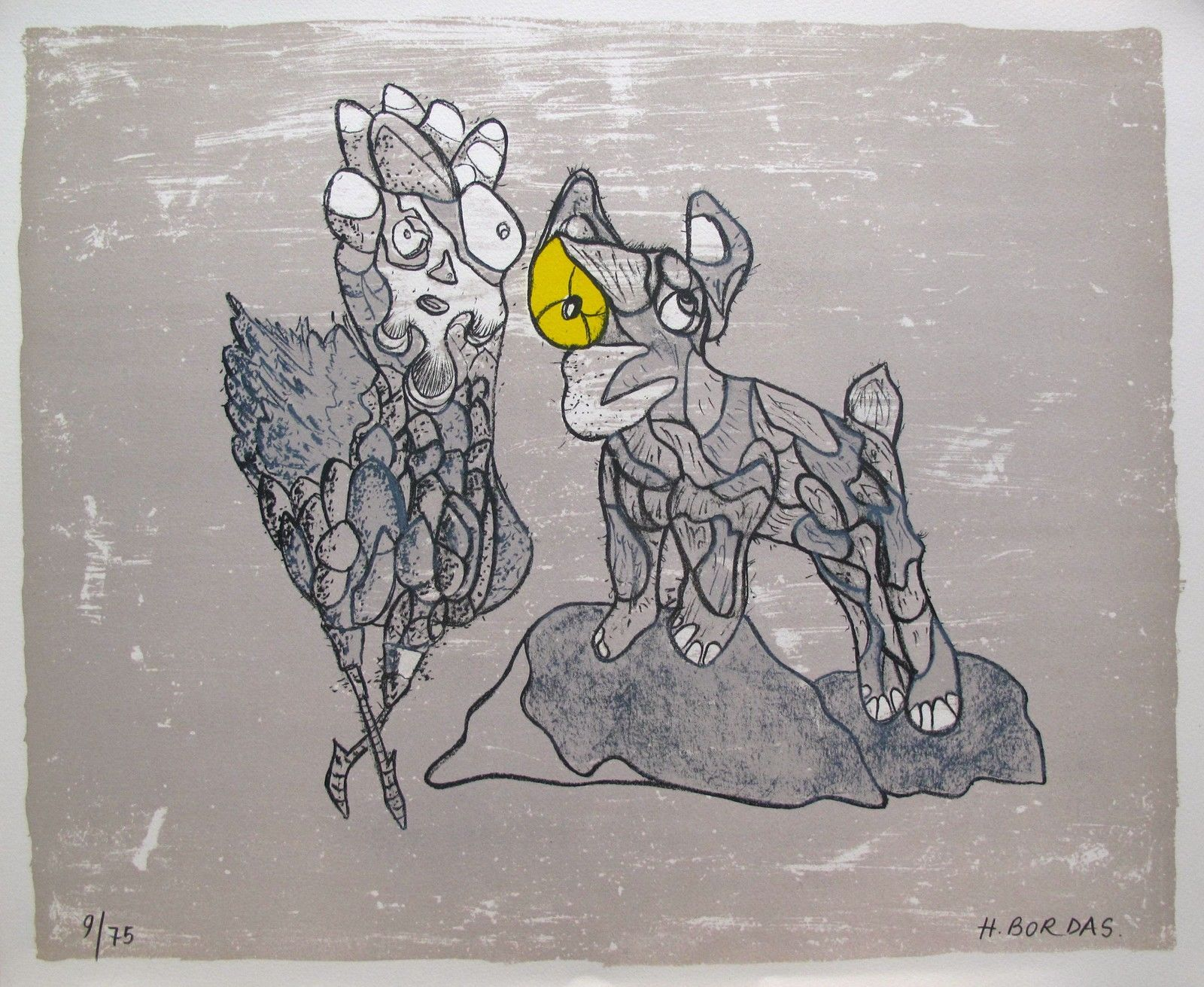 Herve Bordas HOMAGE TO PICASSO Hand Signed Limited Edition Lithograph