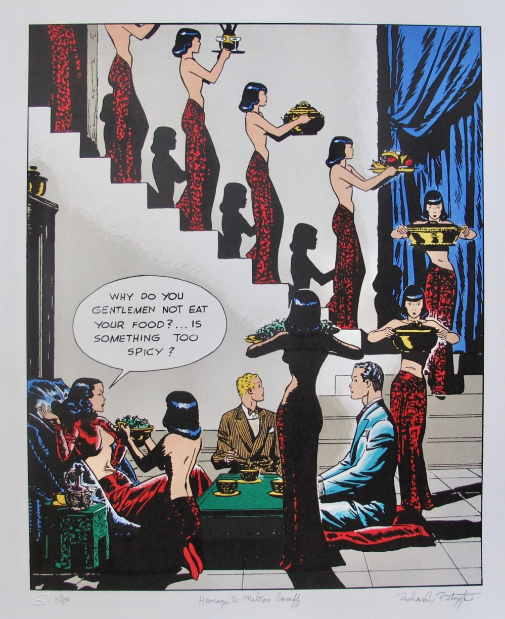 Homage to Milton Caniff Terry & the Pirates Dragon Lady Hand Signed Lithograph