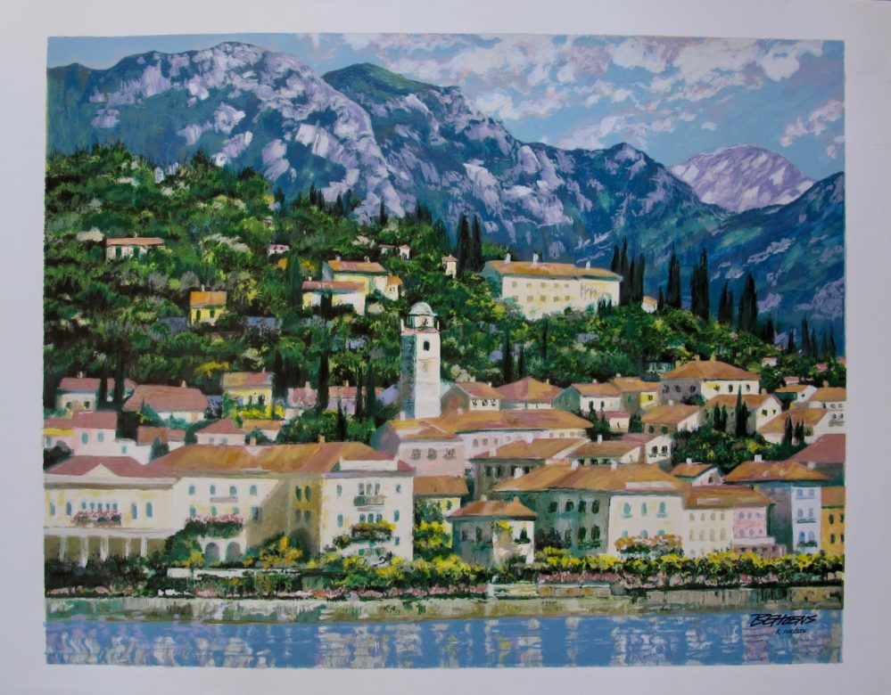Howard Behrens BELLAGIO HILLSIDEHand Signed Limited Edition Serigraph