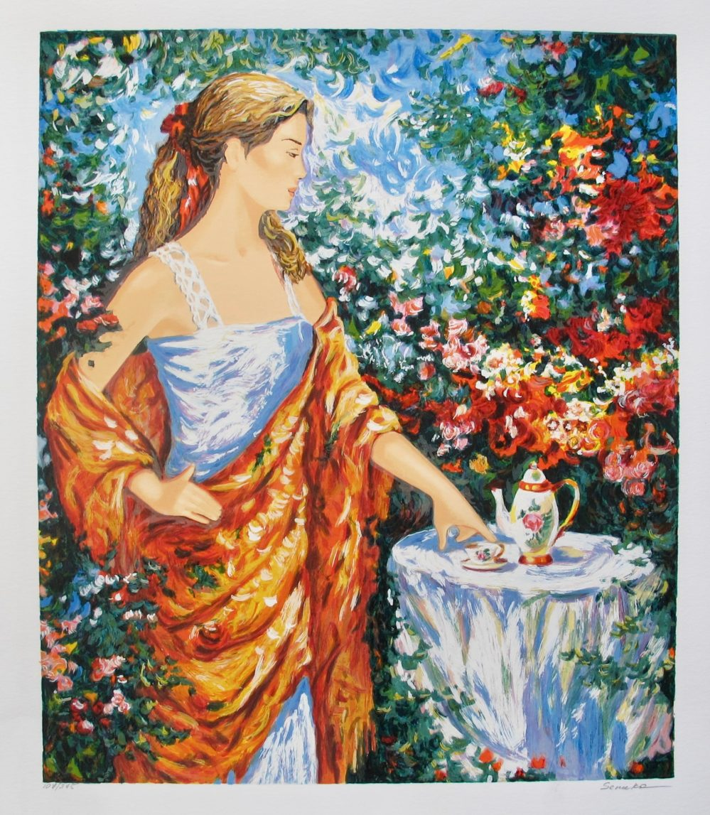 IGOR SEMEKO TEA TIME Hand Signed Limited Edition Serigraph