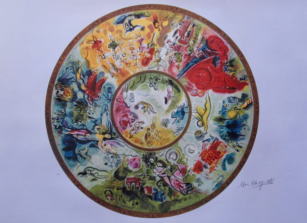 Marc Chagall PARIS OPERA CEILING Limited Edition Lithograph Marc Chagall PARIS OPERA CEILING Limited Edition Lithograph