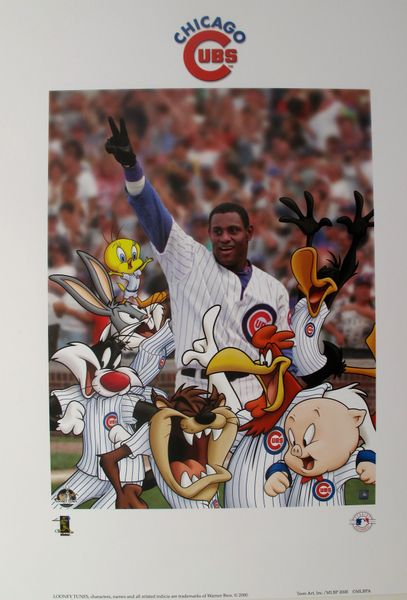 Looney Tunes SAMMY SOSA CHICAGO CUBS Limited Edition Lithograph