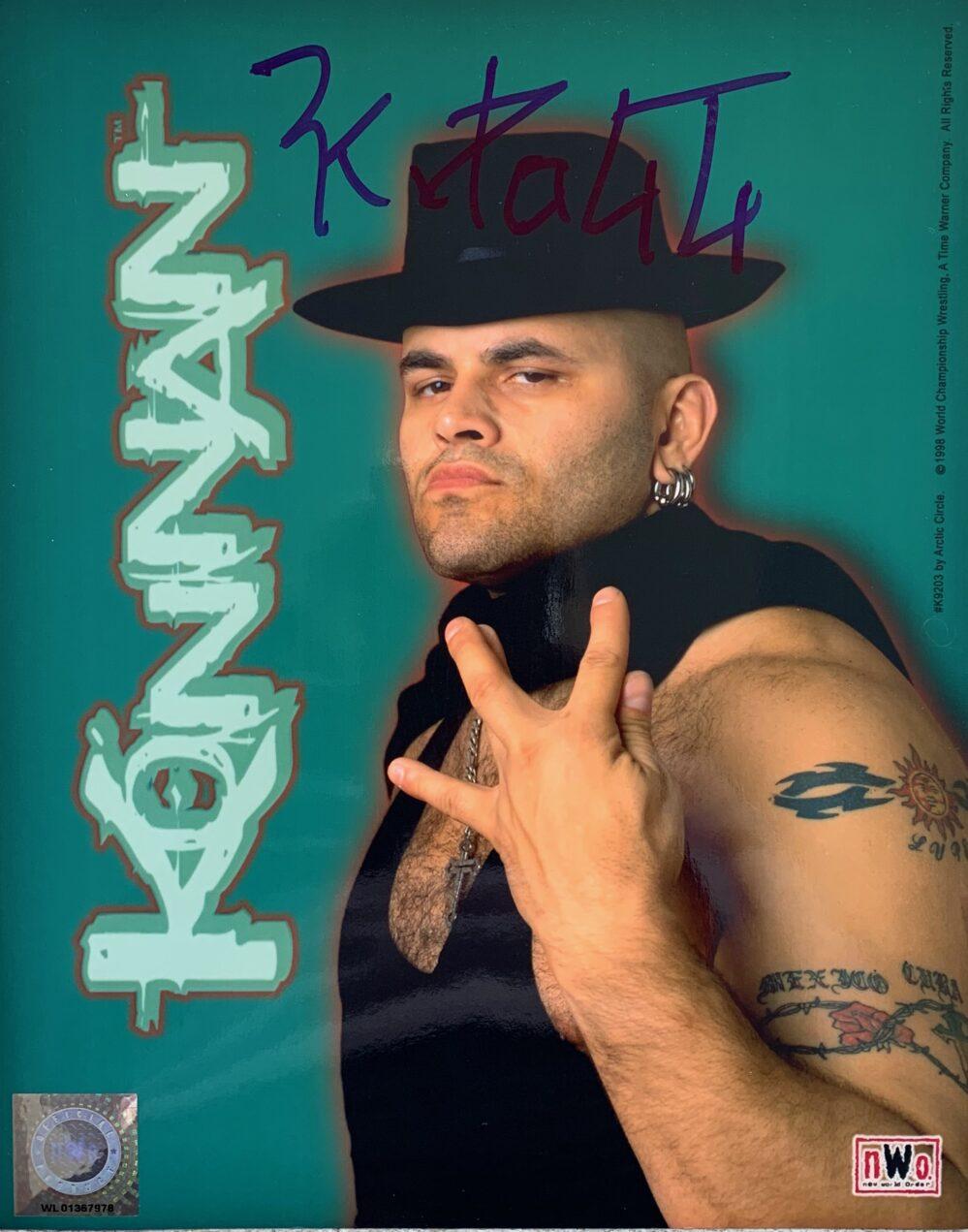 "KONNAN SIGNED AUTOGRAPHED CUBAN PRO WRESTLING 8"" X 10"" PHOTO NWO WWE"