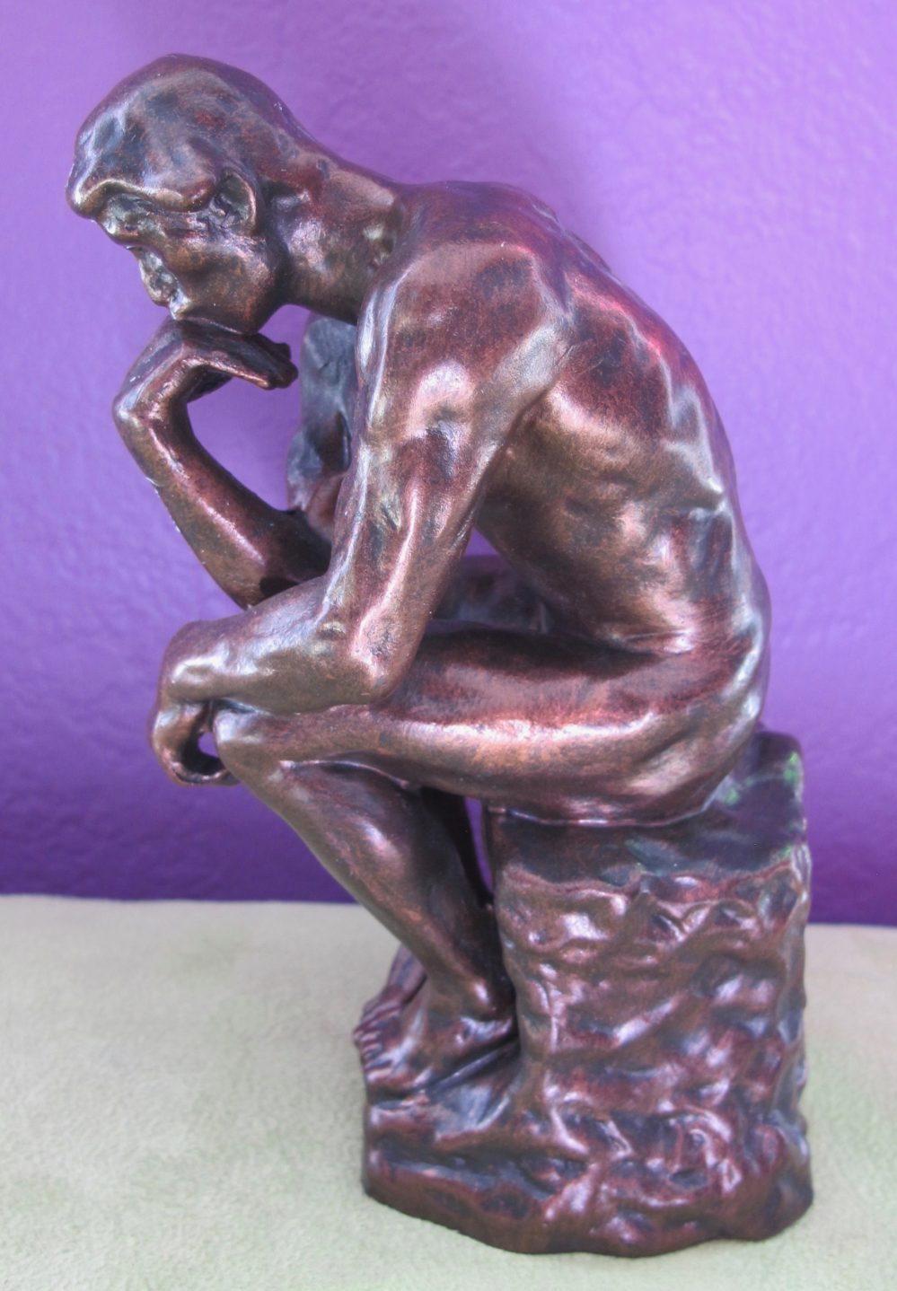 Auguste Rodin THE THINKER Statue Sculpture Figure with Bronze Patina