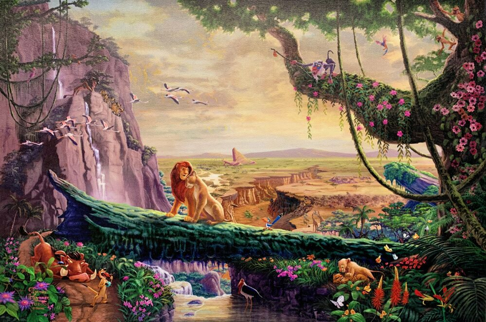 Thomas Kinkade Lion King on Canvas