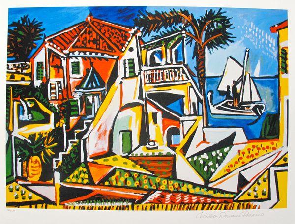 #22 MEDITERRANEAN LANDSCAPE Pablo Picasso Estate Signed Giclee
