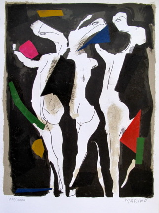 Marino Marini LE SACRE DU PRINTEMPS 1973 Hand Signed Limited Edition Lithograph