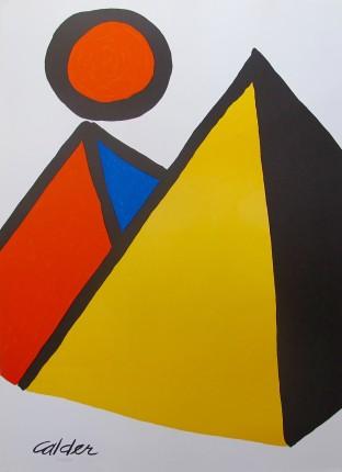 Alexander Calder PYRAMIDS AND SUN 1975