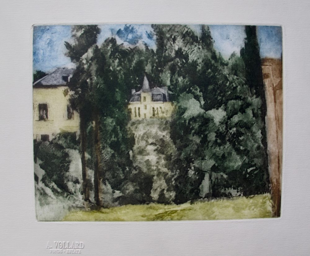 Paul Cezanne MAISON ET PAYSAGE Etching Ambroise Vollard Estate Stamped Etching