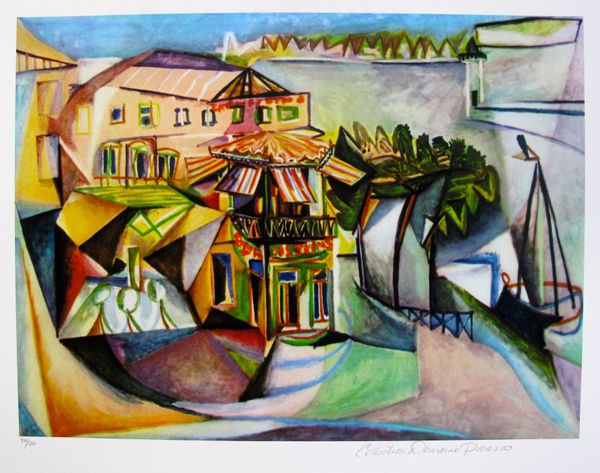 #18 CAFE AT ROYAN Pablo Picasso Estate Signed Giclee