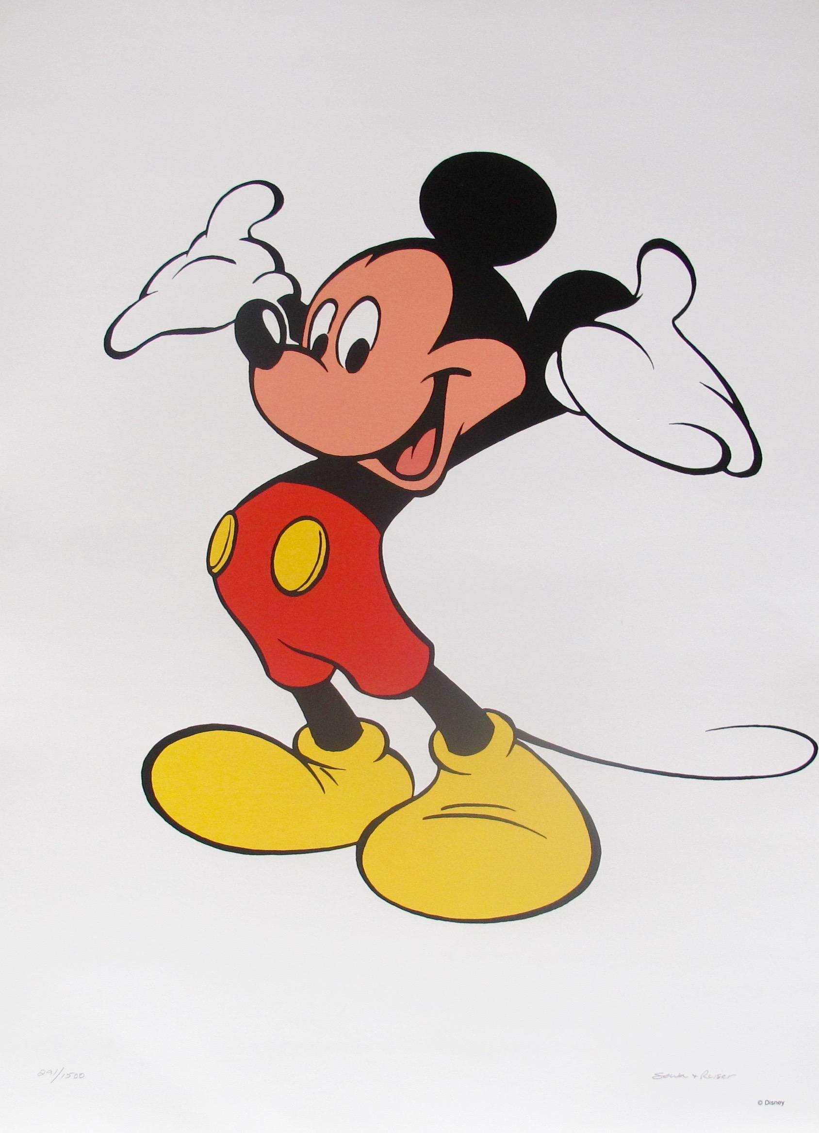 WALT DISNEY MICKEY MOUSE Limited Edition Serigraph Art