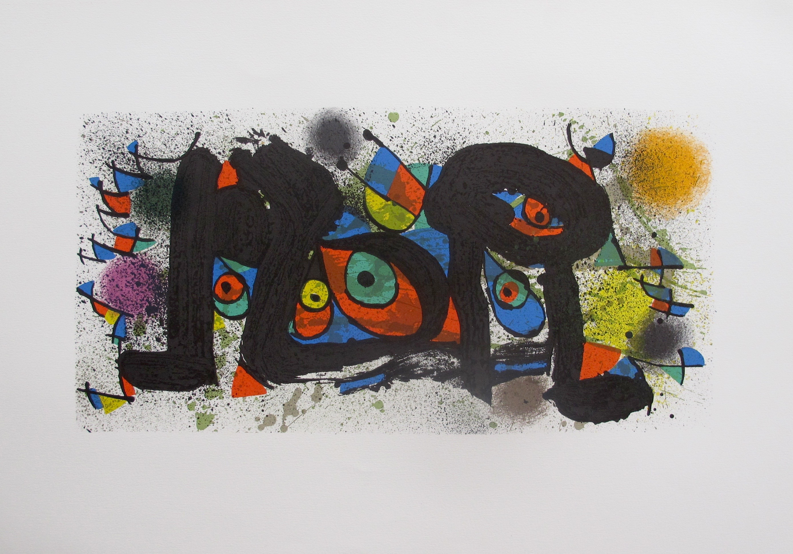 Joan Miro SCULPTURE, PLATE 1 Stone Lithograph