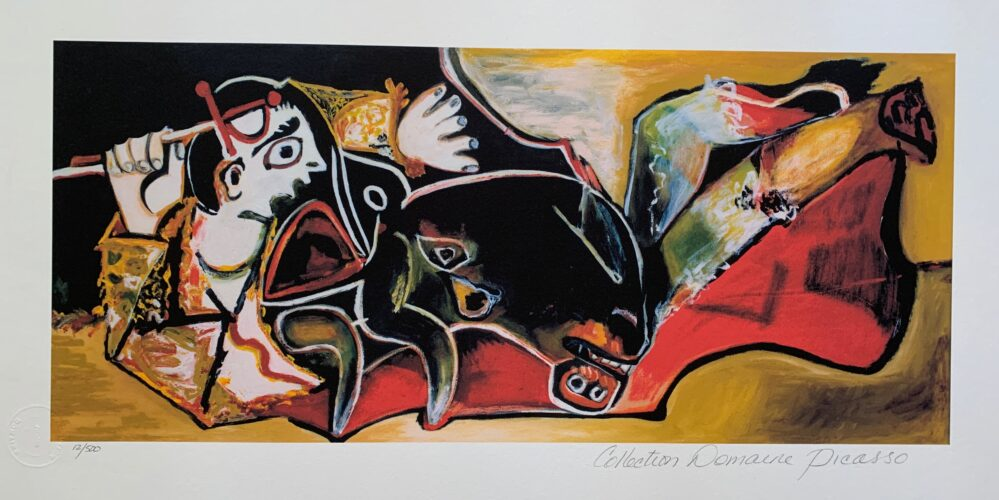 #095 BOY WITH CREATURE Pablo Picasso Estate Signed Giclee