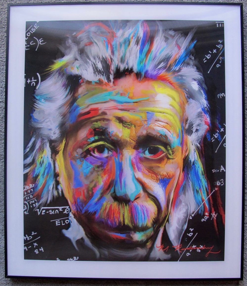 MARC RUDINSKY The Brain Albert Einstein 3-D Lenticular Hologram Signed Art