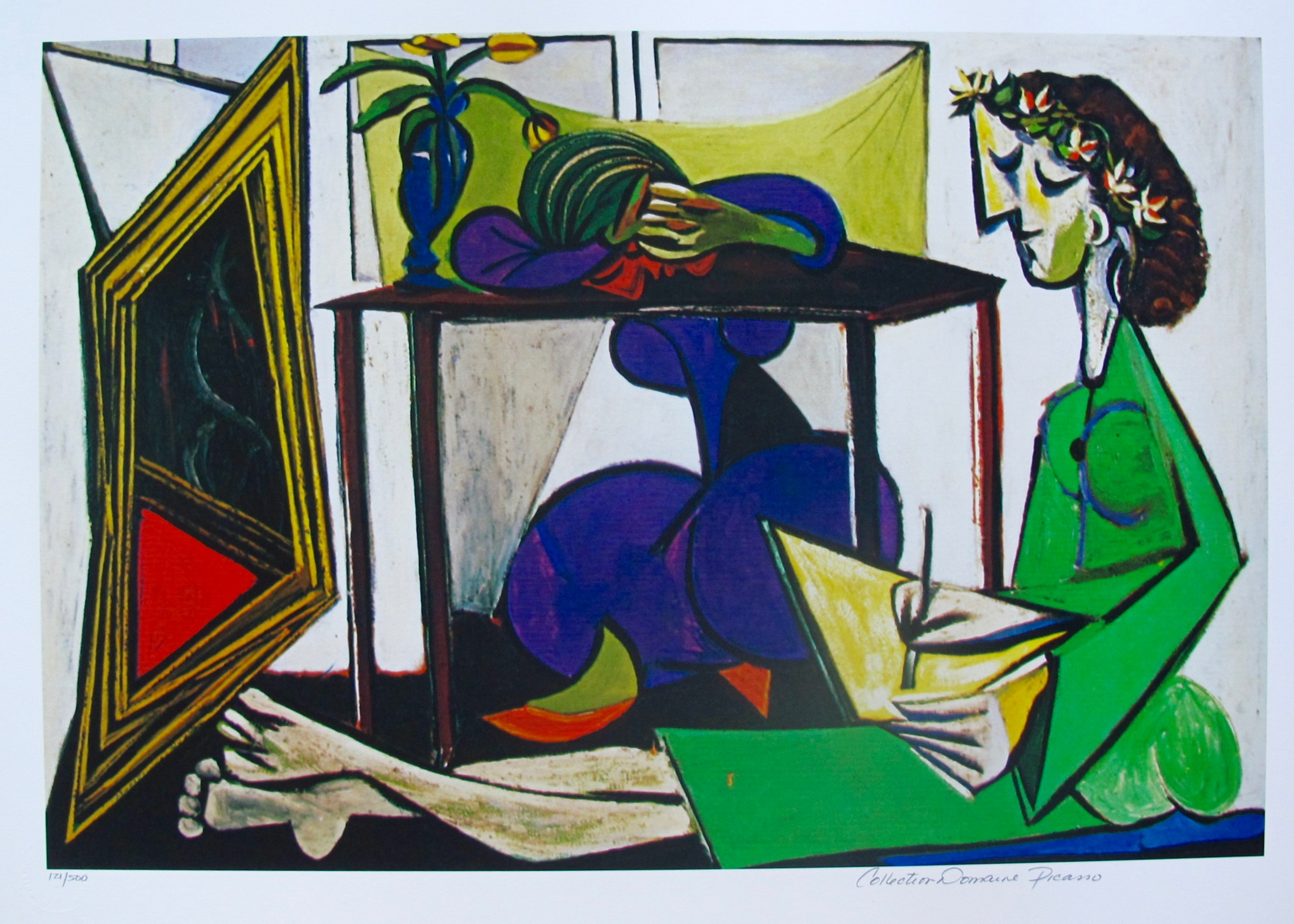 INTERIOR WITH GIRL DRAWING Pablo Picasso Estate Signed Giclee