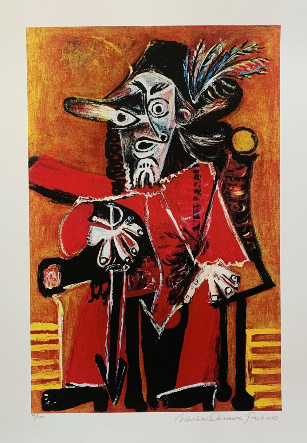 THE MUSKETEER Pablo Picasso Estate Signed Giclee