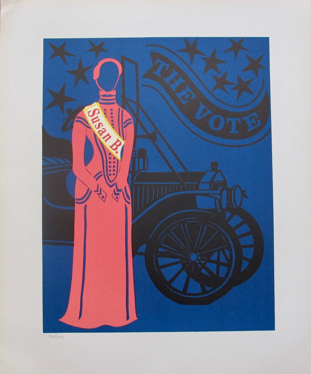 Robert Indiana SUSAN B. ANTHONY 1977 Limited Edition Lithograph