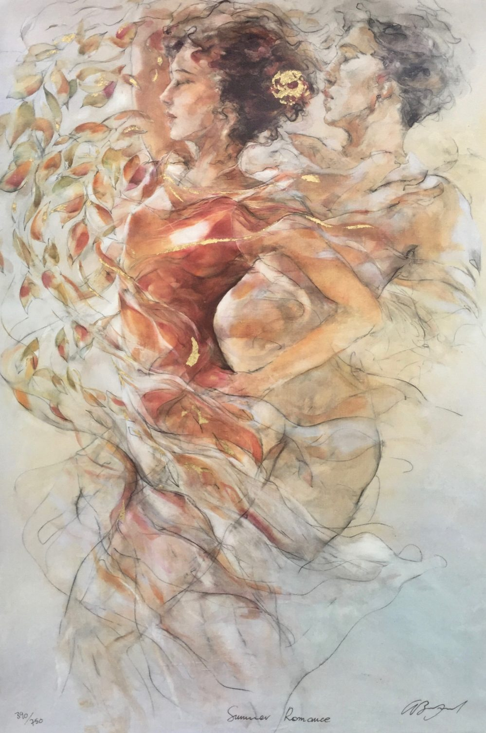 Gary Benfield summer Romance Hand Signed Limited Edition Serigraph