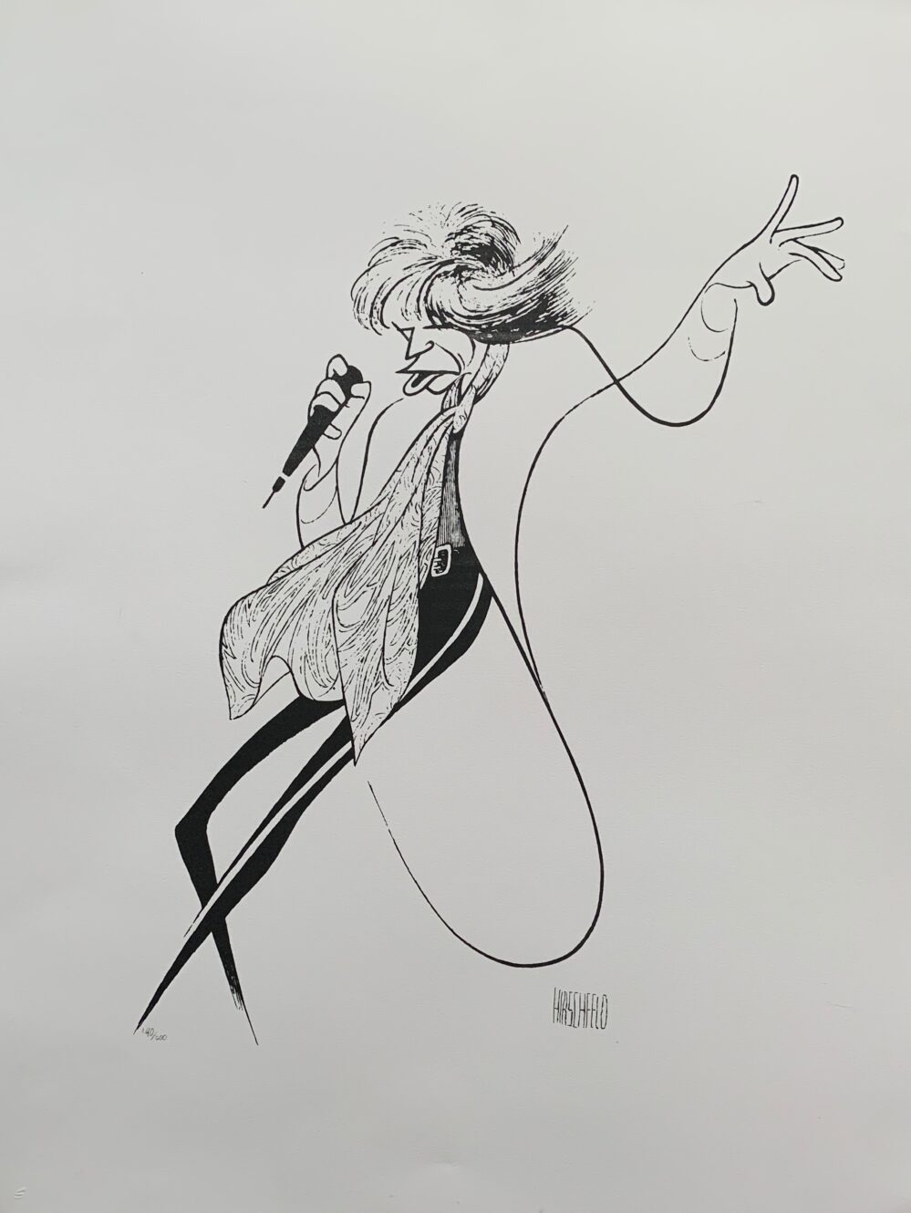 AL HIRSCHFELD MICK JAGGER Facsimile Signed Limited Edition Lithograph