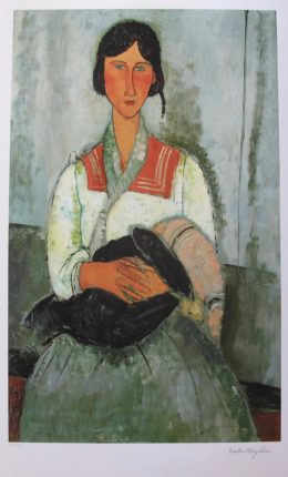 Amadeo Modigliani GYPSY WOMAN WITH CHILD Signed Large Limited Edition Giclee