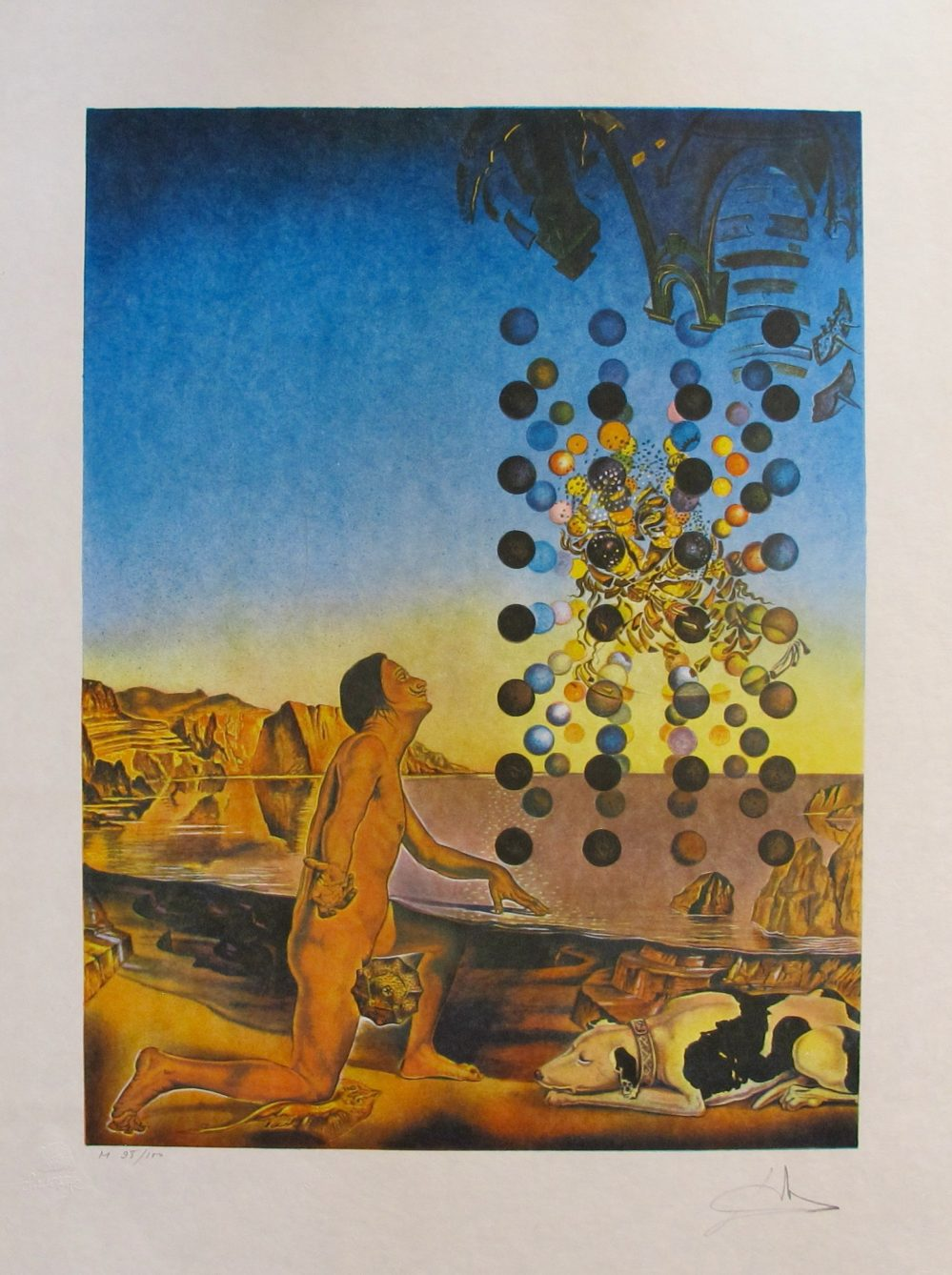 alvador Dali NUDE CONTEMPLATING Hand Signed Limited Edition Lithograph Art