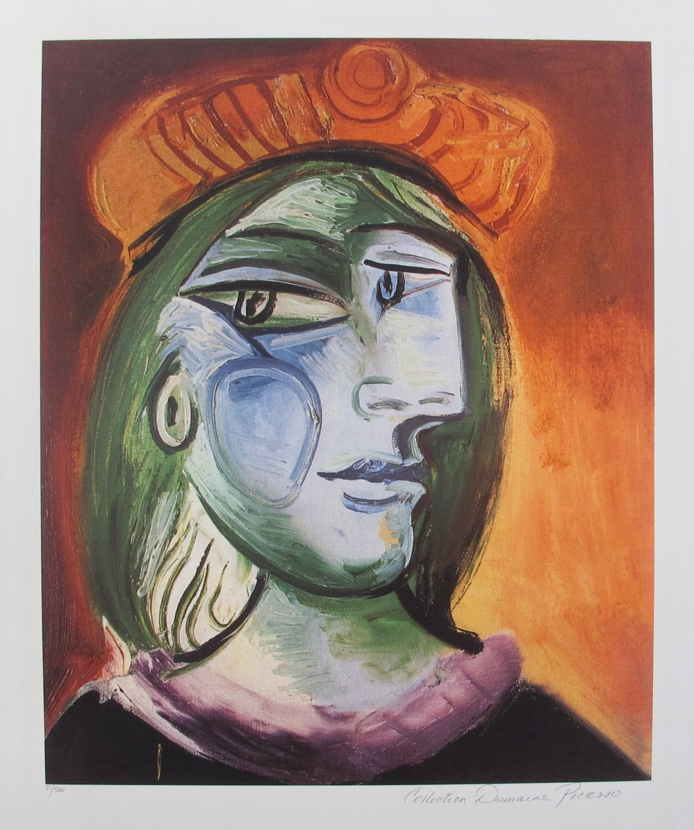 LADY WITH GREEN HAIR Pablo Picasso Estate Signed Giclee