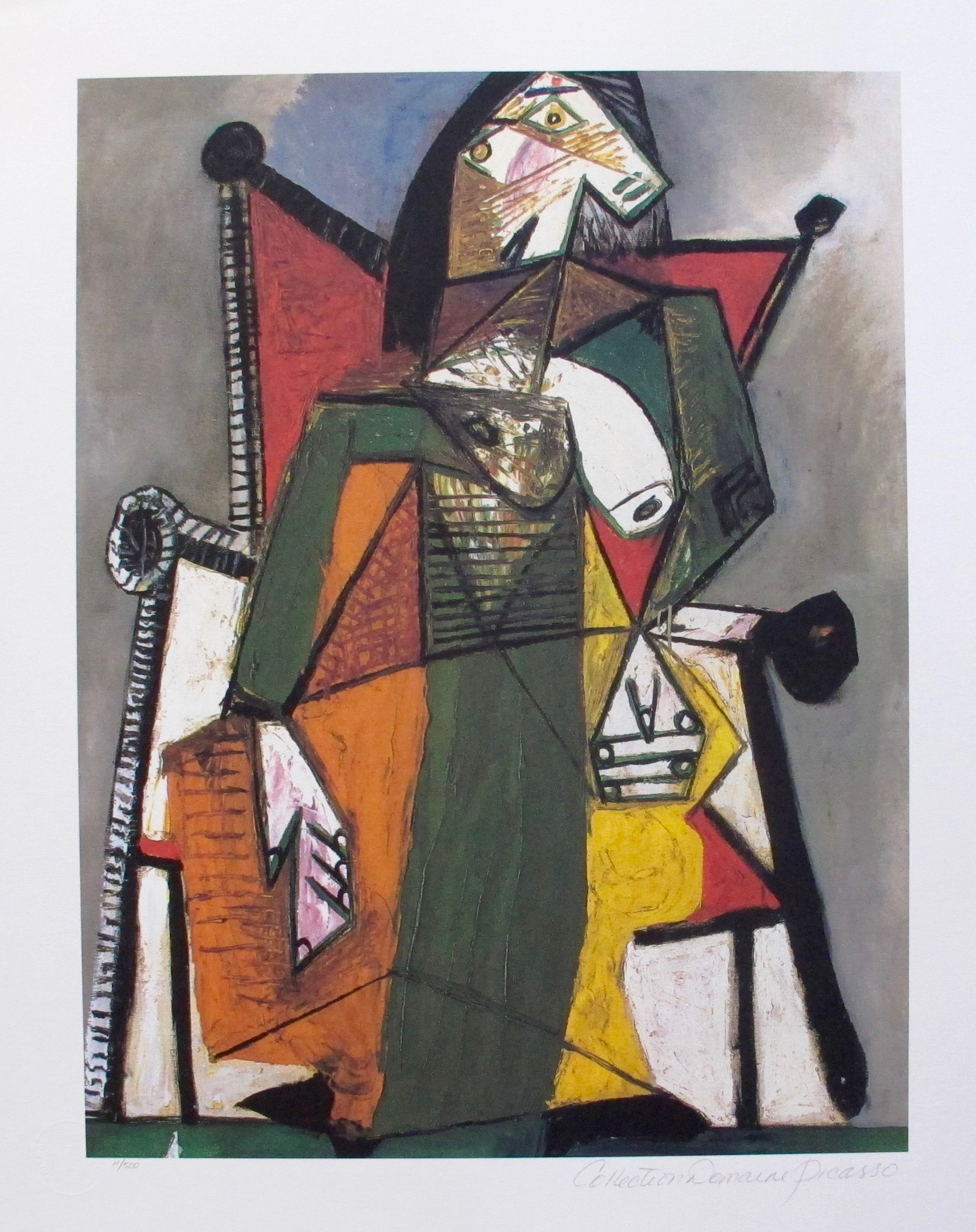 #150 FIGURE IN CHAIR Pablo Picasso Estate Signed Giclee