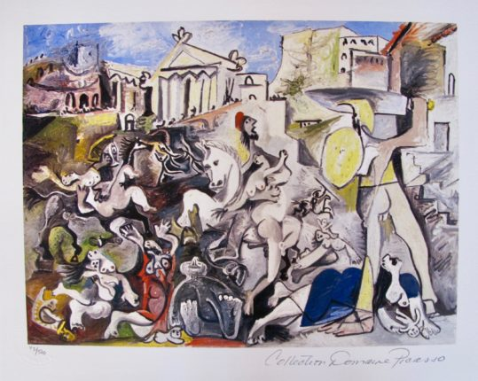 Pablo Picasso THE PIGEONS Estate Signed Limited Edition Giclee Art