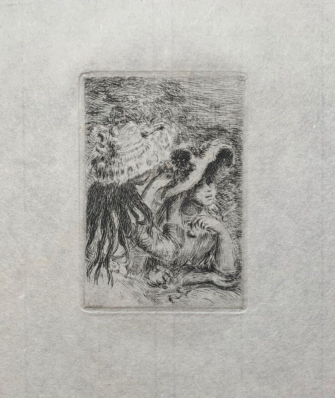 Pierre-Auguste Renoir LE CHAPEAU EPINGLE Restrike Etching