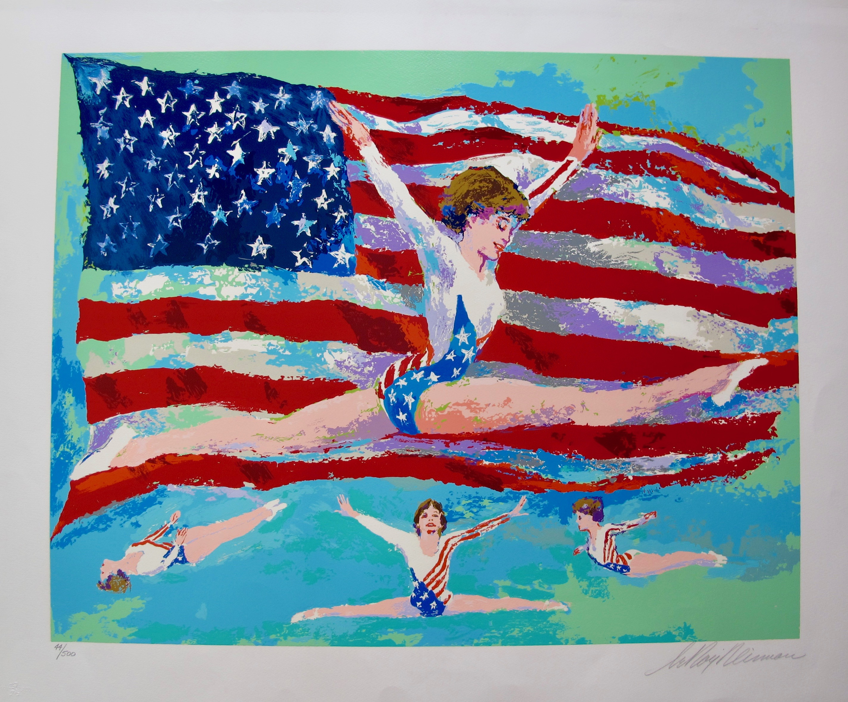 LEROY NEIMAN Golden Girl Hand Signed Limited Edition Serigraph