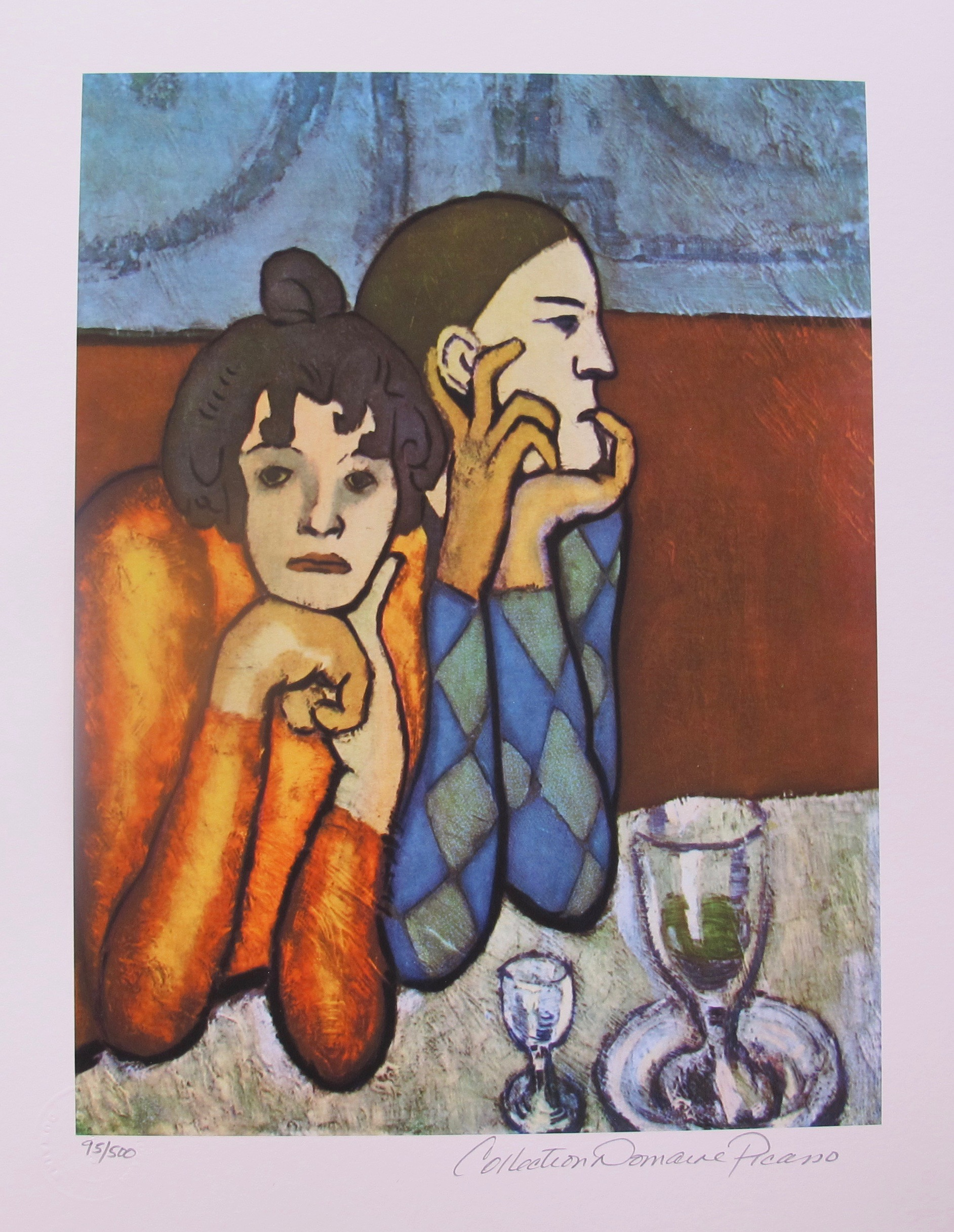 Pablo Picasso PAUL AS HARLEQUIN AND HIS COMPANION Estate Signed Limited Edition Giclee